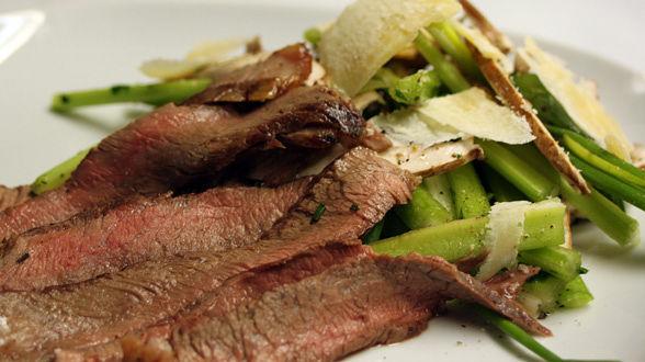 Tagliata with Celery and Mushroom Salad