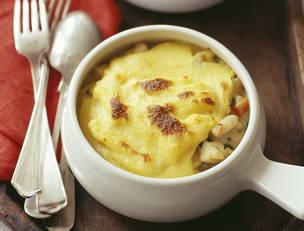 Tarragon-Cream Chicken and Polenta Pot Pies