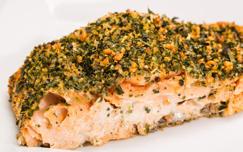 Tea-crusted salmon