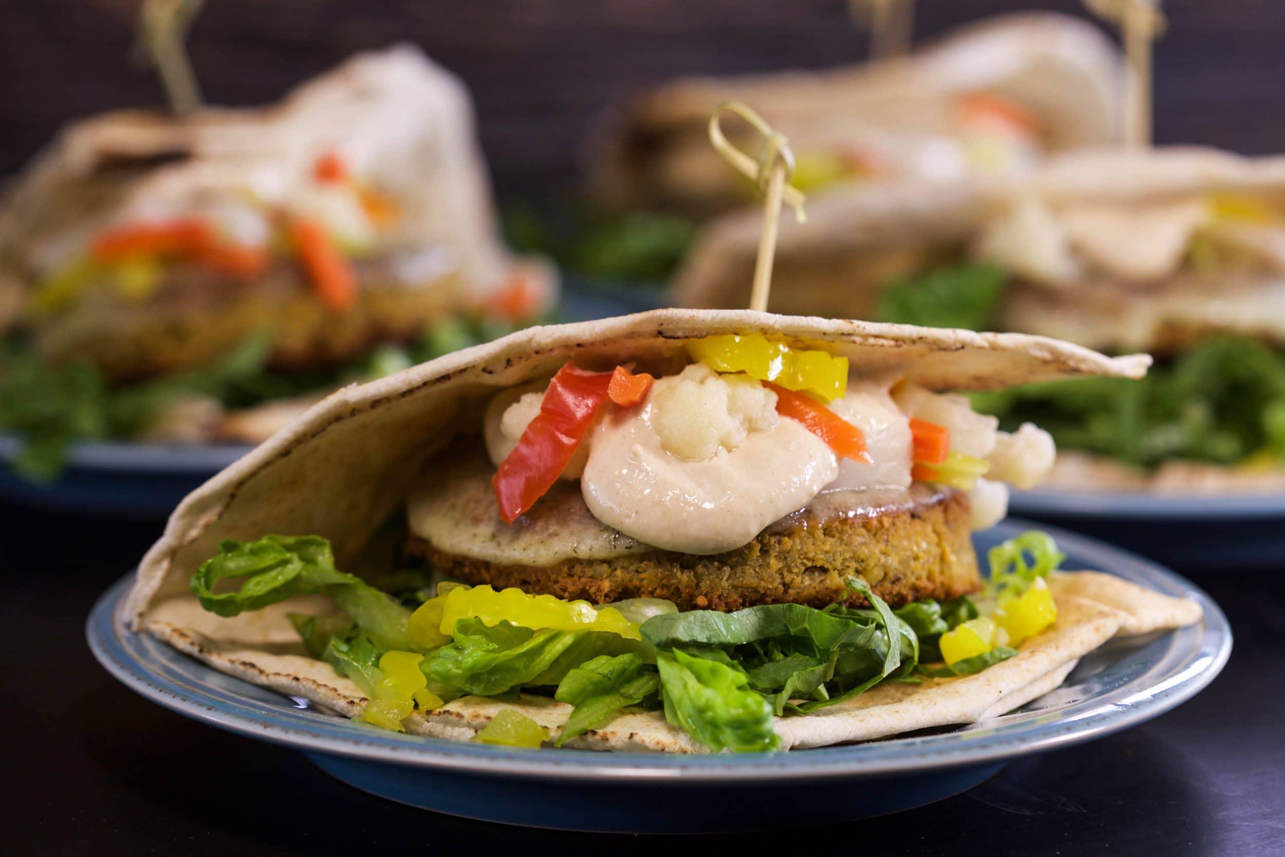 Ultimate Falafel Patty Melts