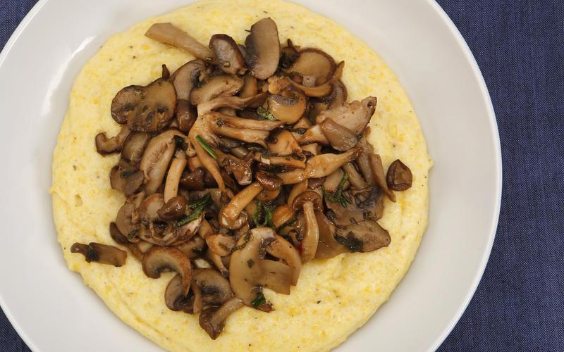 Union's creamy polenta with mushrooms