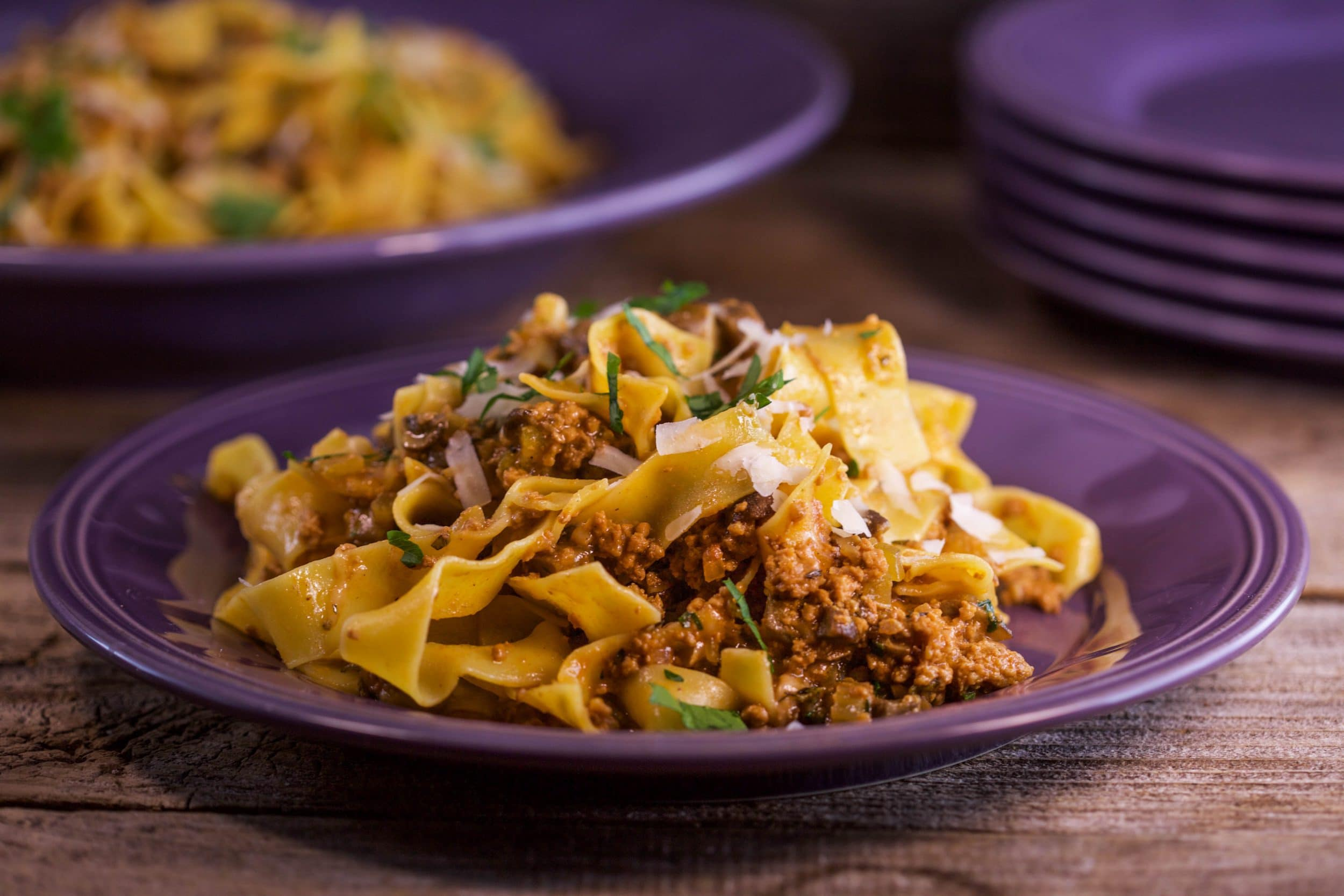 Veal or Chicken Ragu with Mushrooms and Marsala
