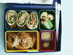 Wa-s'up? Tuna Salad Pinwheels (Bento Lunch Box)