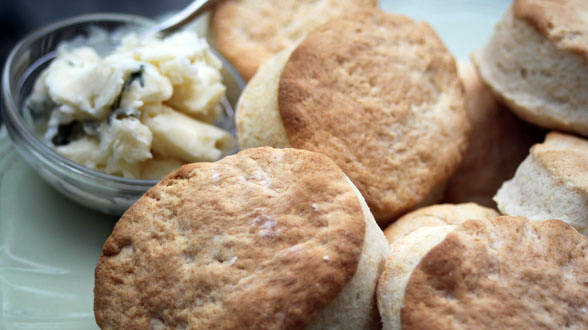 Warm Biscuits with Honey Butter