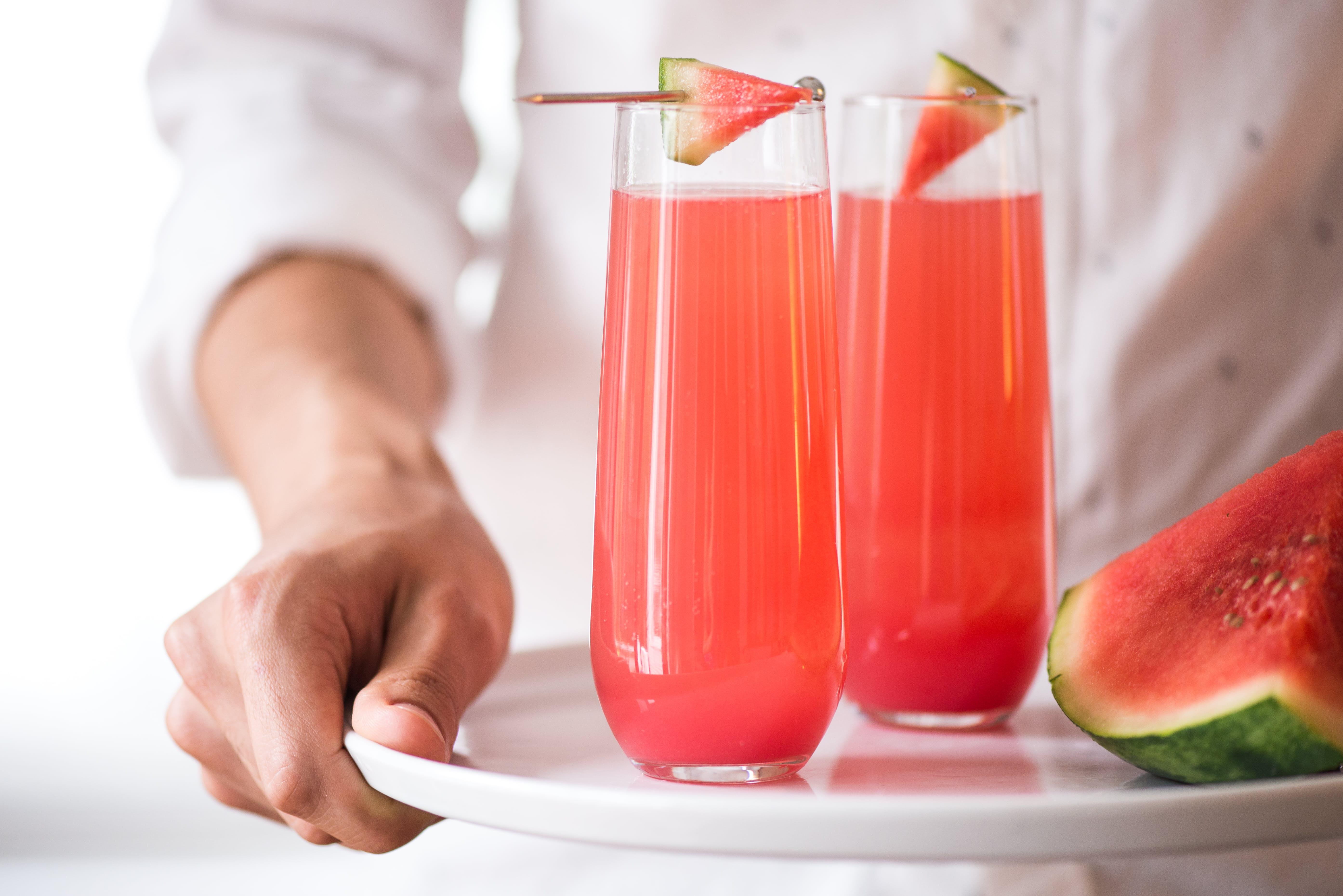 Watermelon Mimosas