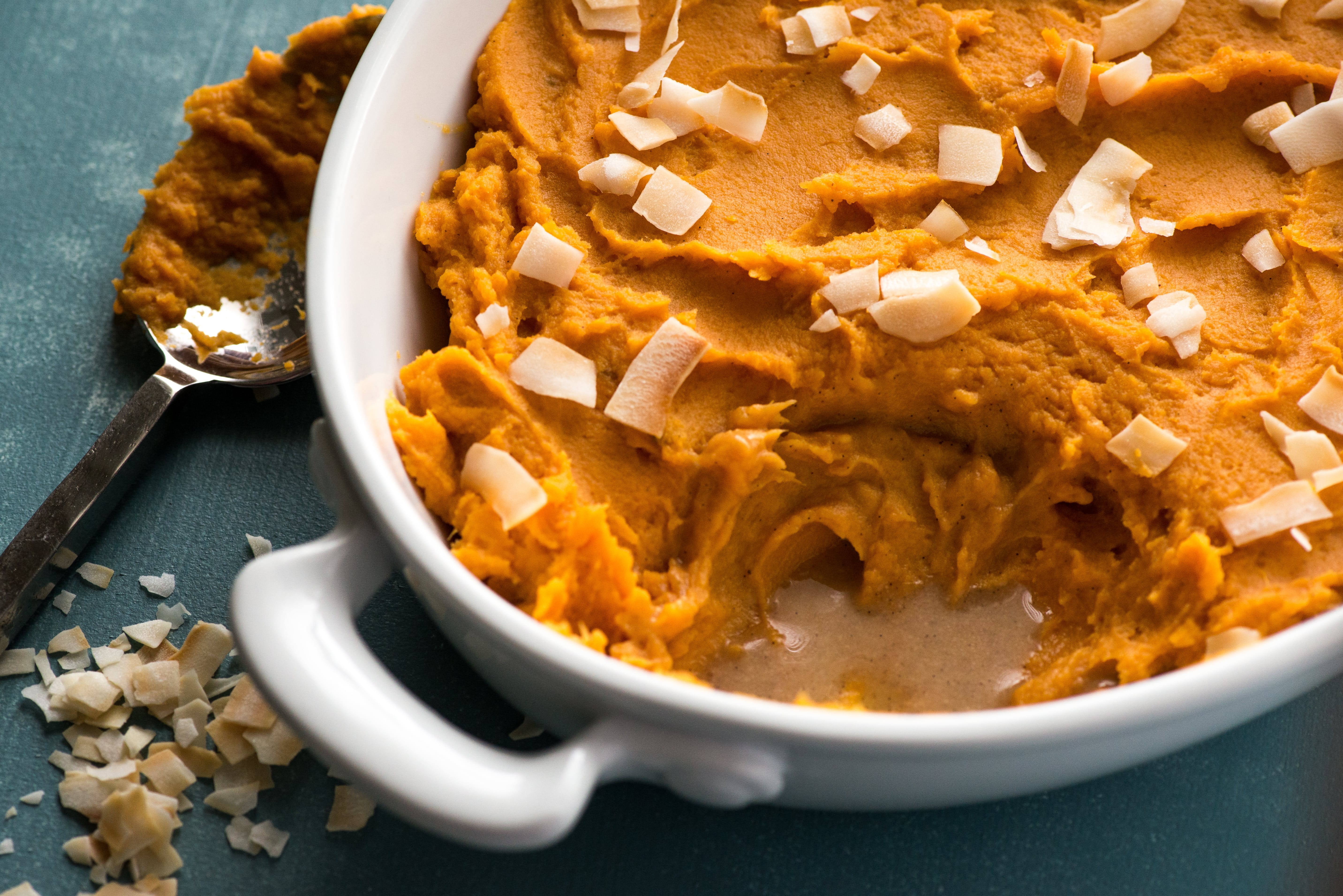 Whipped Sweet Potatoes with Coconut Milk & Vanilla Bean