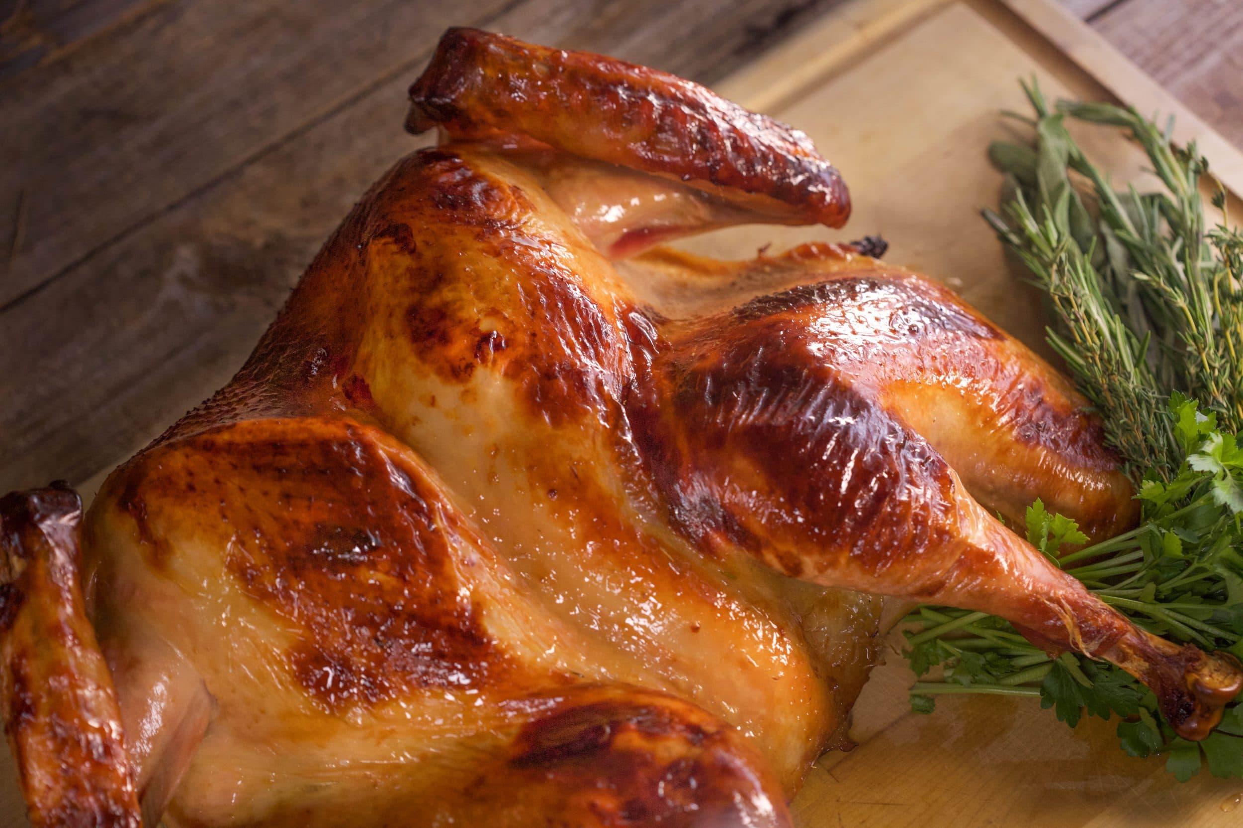 Whiskey-Brined Spatchcock Turkey