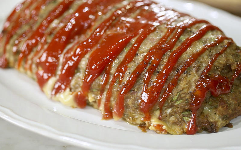 Wolfie's Thursday night turkey meatloaf