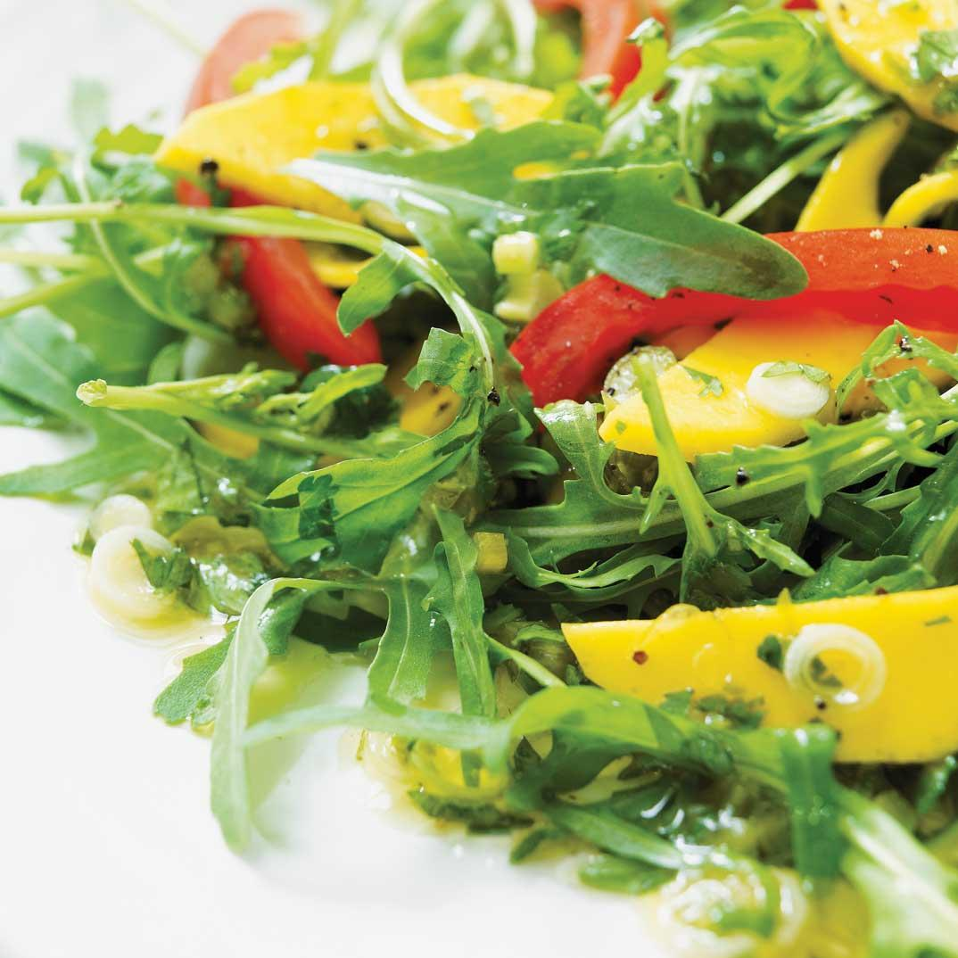Arugula Salad with Jalapeno Vinaigrette
