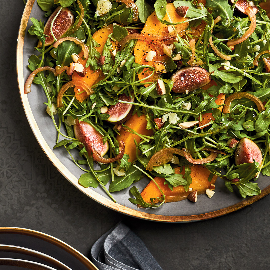 Arugula Salad with Persimmon and Almonds
