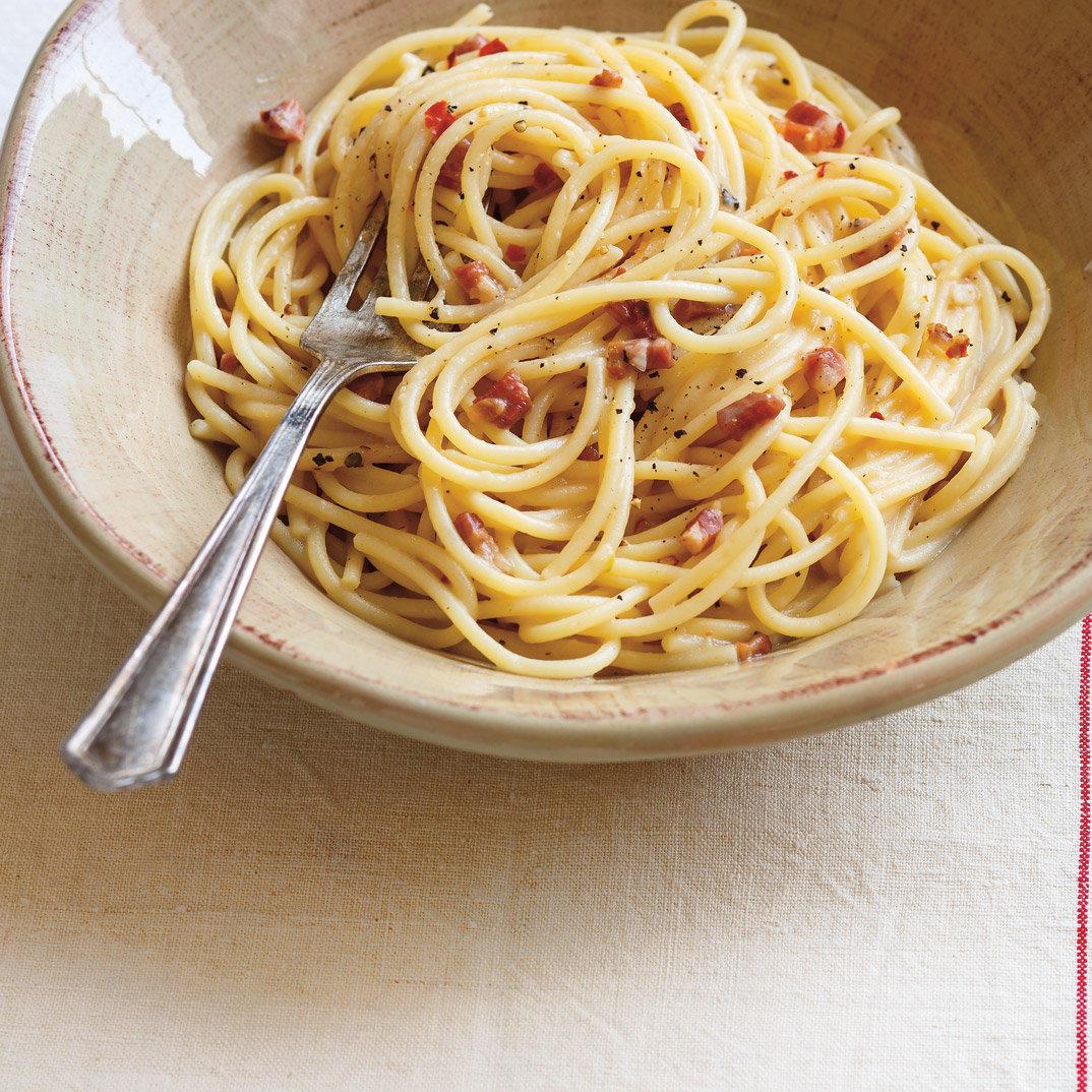 Bacon, Chili and Pecorino Spaghetti (<i>Pasta Alla Gricia</i>)