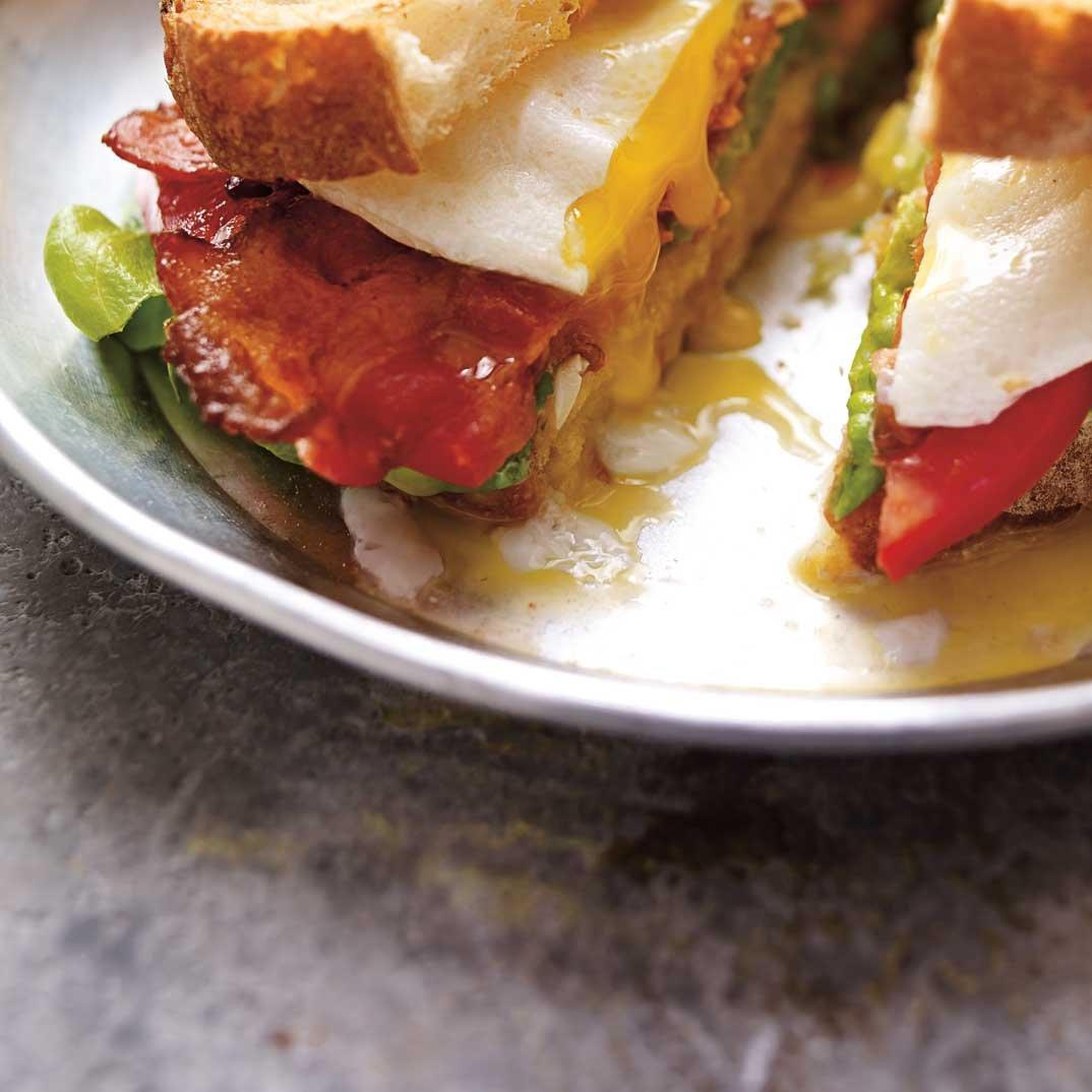 Bacon, Lettuce, Tomato and Egg Sandwich