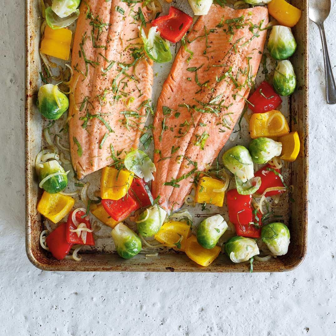 Baked Trout with Roasted Vegetables
