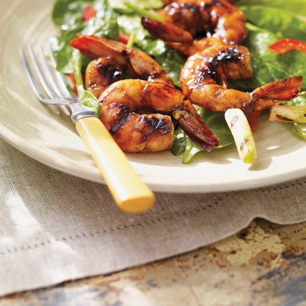 Balsamic-Glazed Shrimp Skewers
