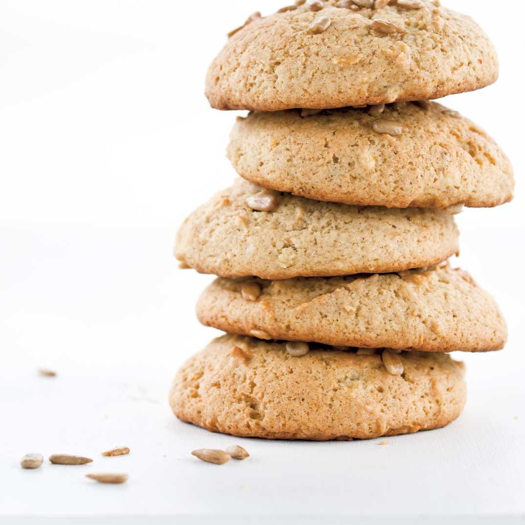 Banana and Sunflower Seed Cookies