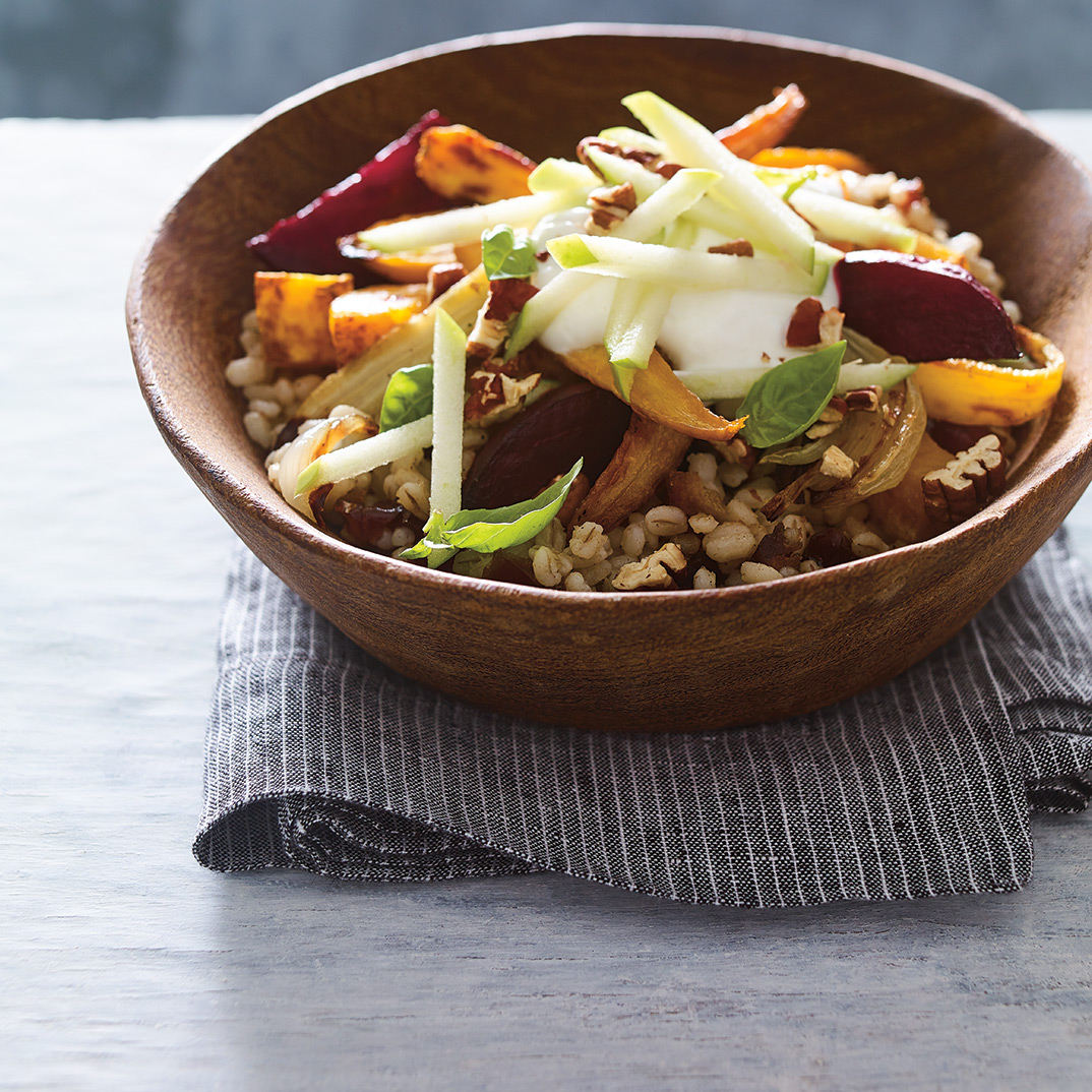 Barley Bowl with Dates and Roasted Vegetables