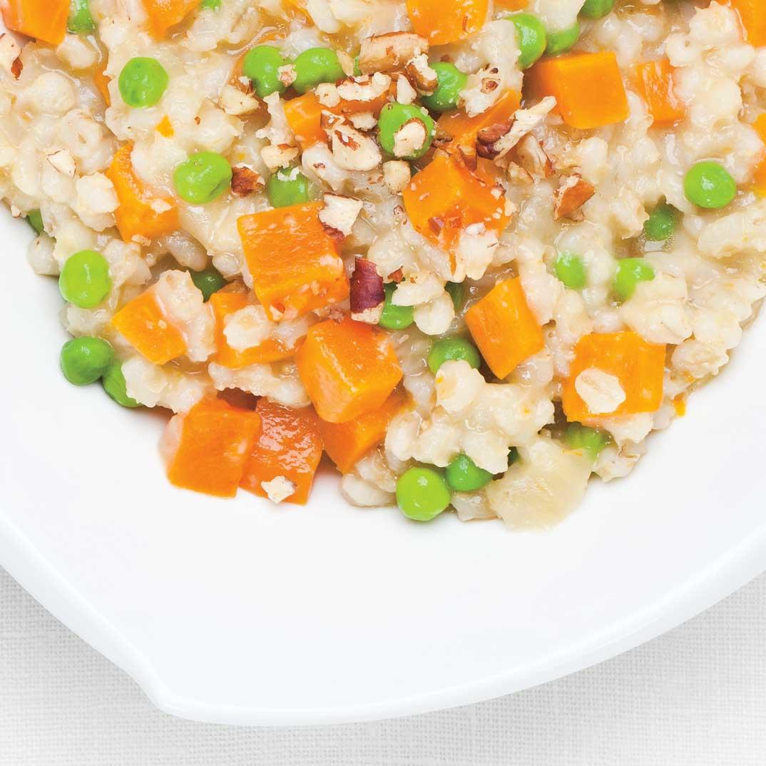 Barley Casserole with Vegetables and Cheddar