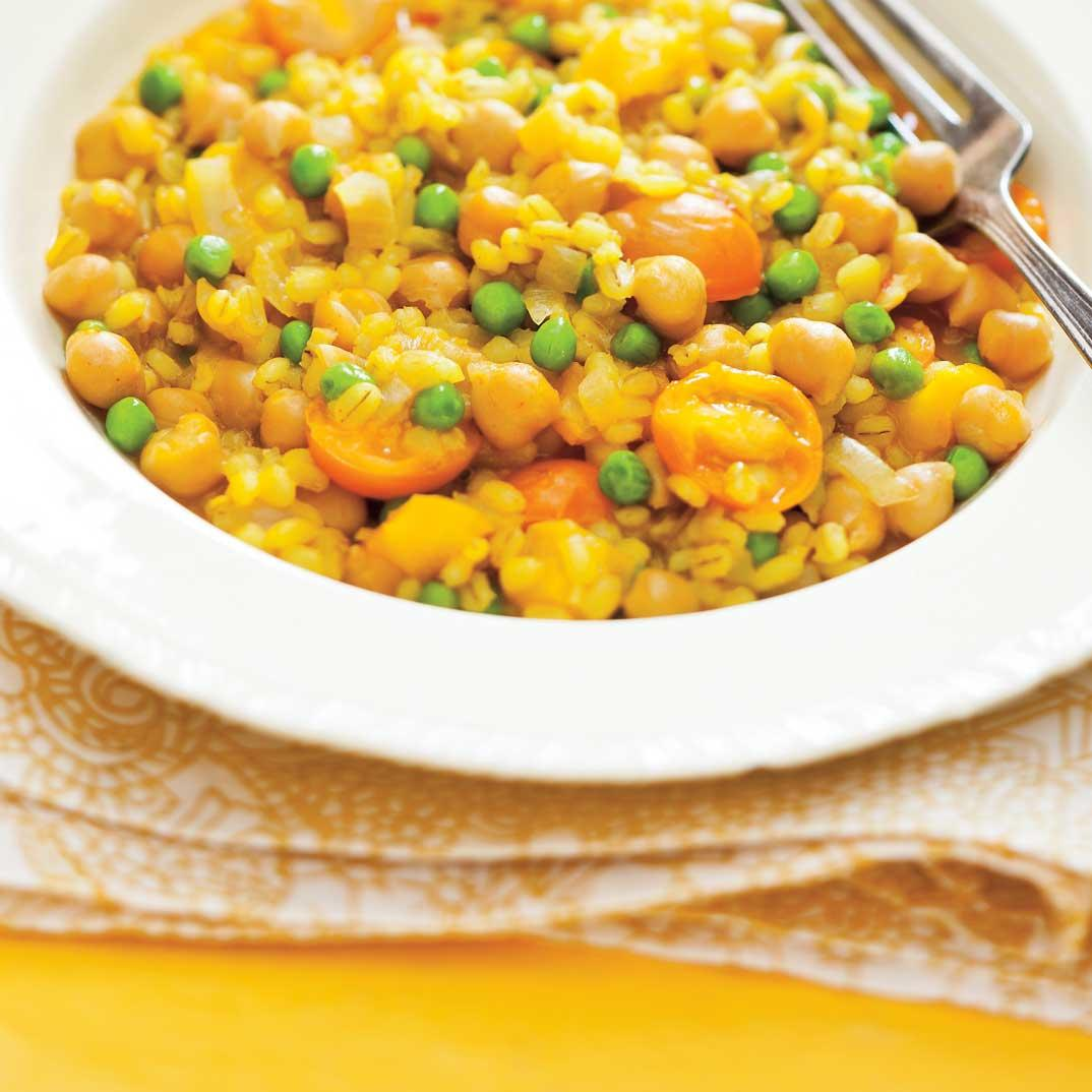 Barley Stew with Saffron