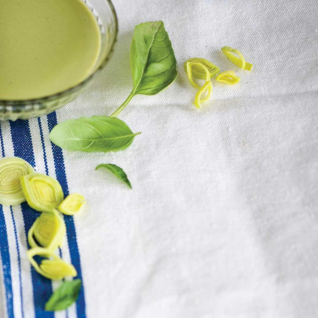 Basil and Leek Milk