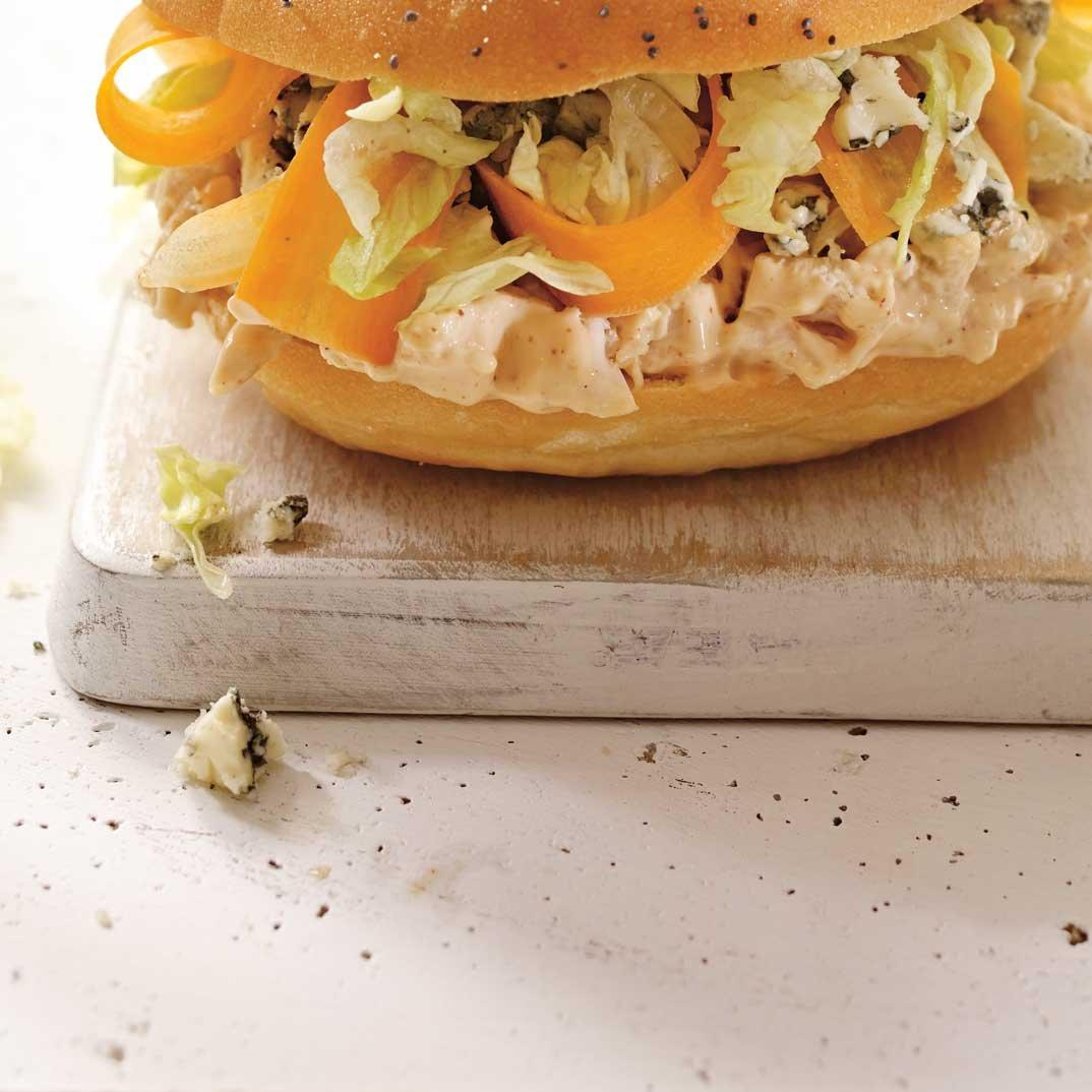 BBQ Chicken and Blue Cheese Sandwiches