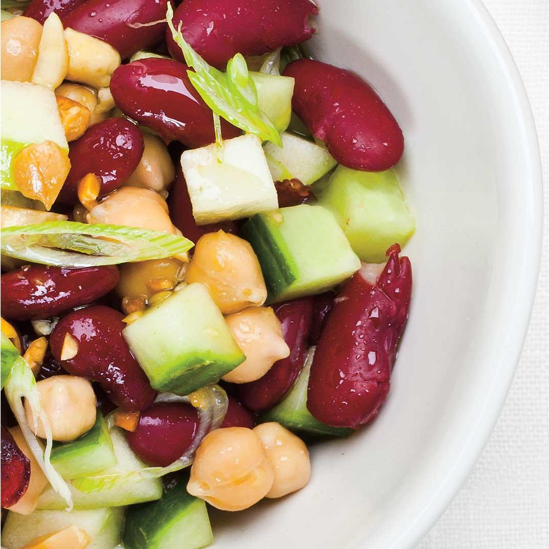 Bean, Apple, and Cranberry Salad