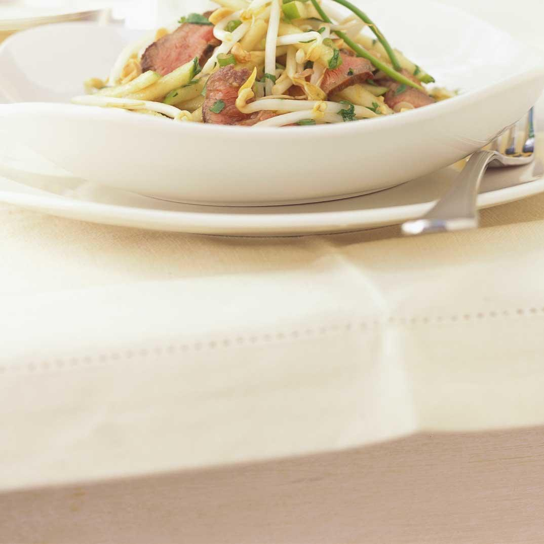 Bean Sprout, Green Apple and Beef Salad