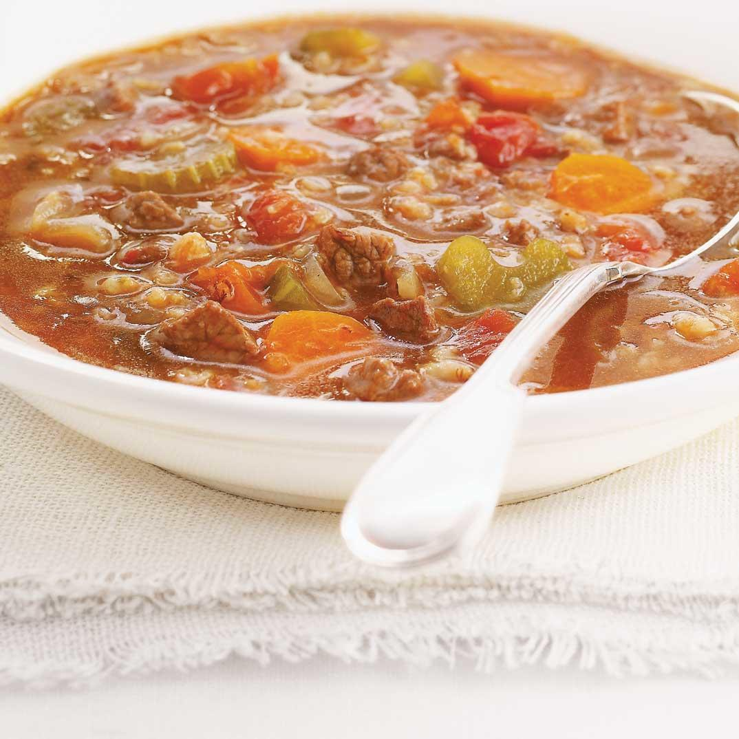 Beef and Oatmeal Soup
