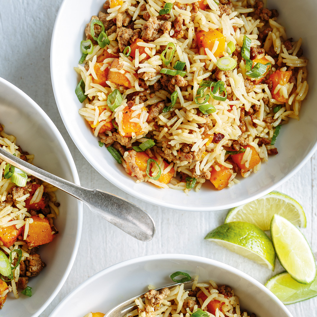 Beef and Squash Fried Rice