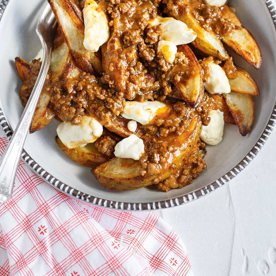 Beef Barbecue Sauce Poutine