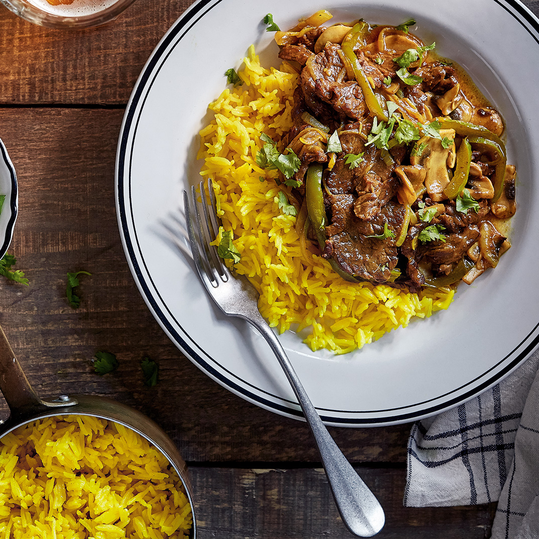 Beef Stir-Fry with Green Peppers and Mushrooms