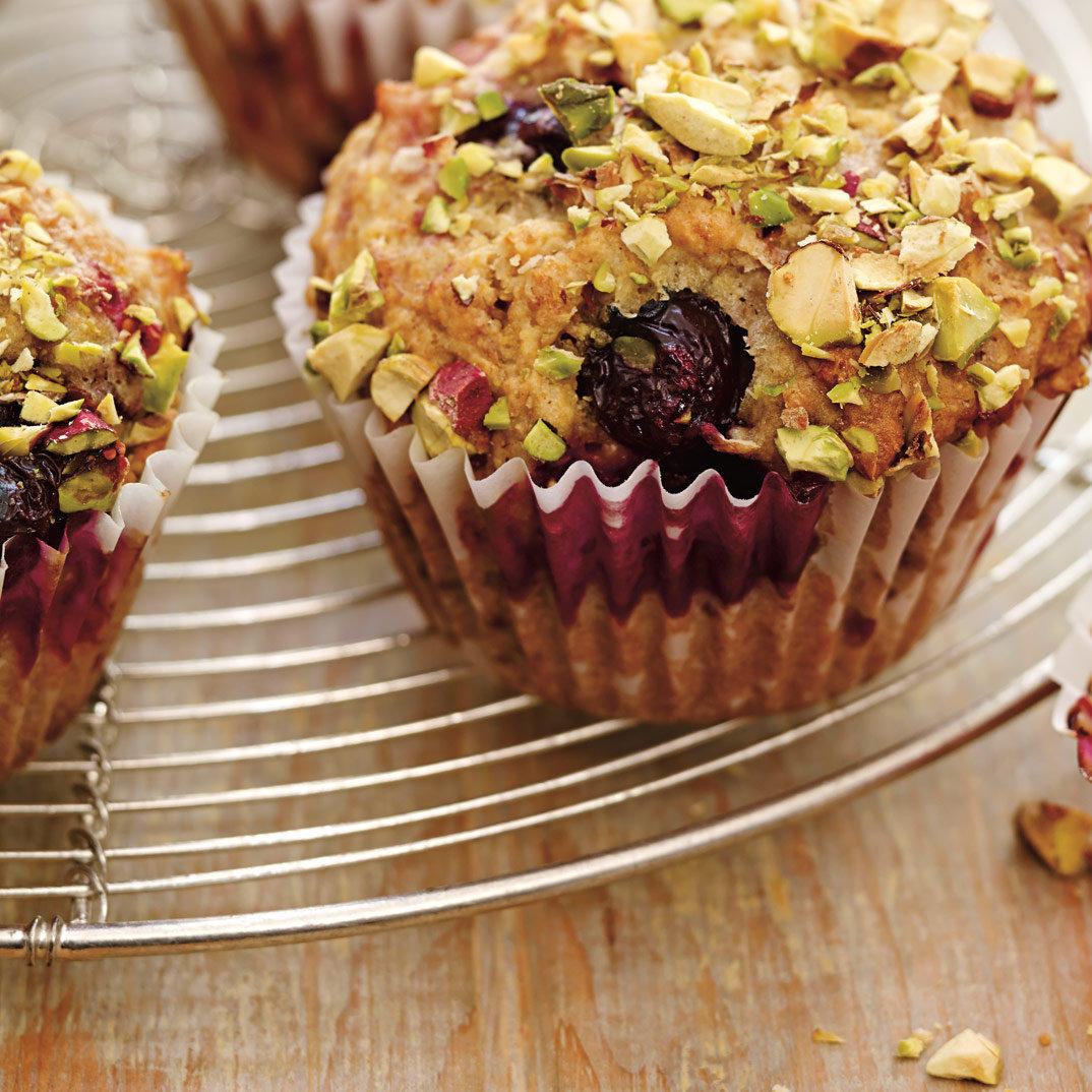 Berry and Pistachio Muffins