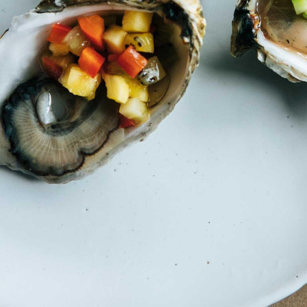 Bloody Caesar Oysters