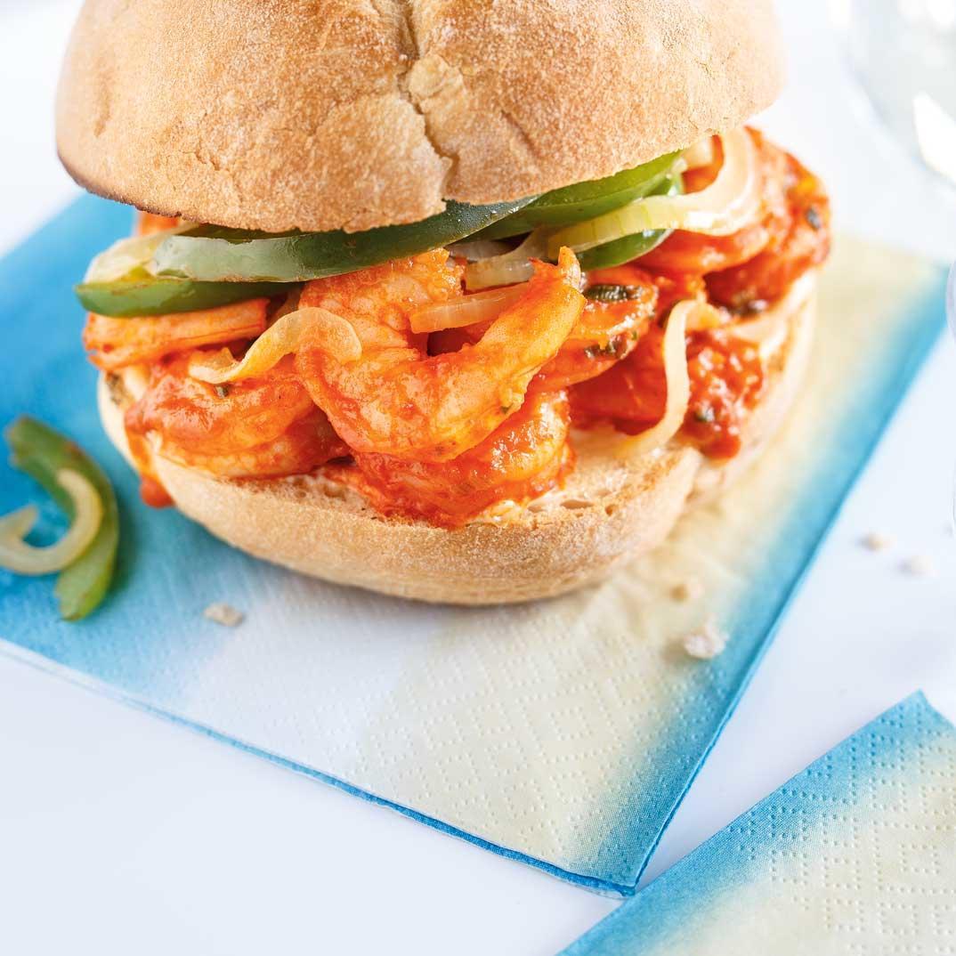 Bourbon Shrimp Sandwiches