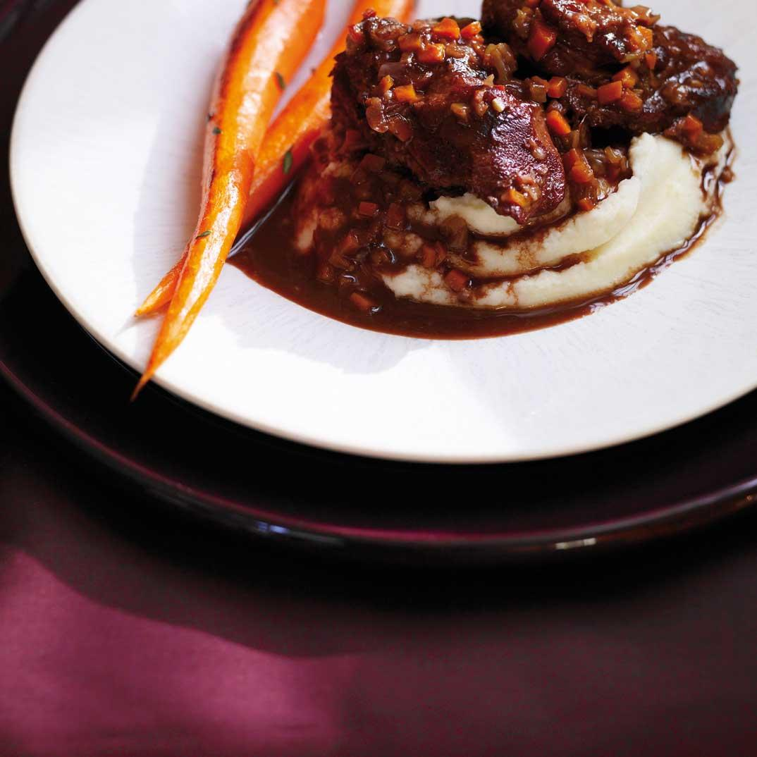 Braised Veal Cheeks with Cocoa Sauce