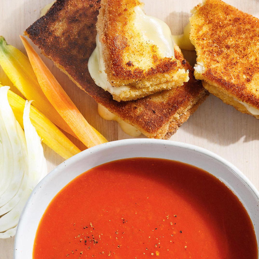 Breaded Grilled Cheese Sandwiches