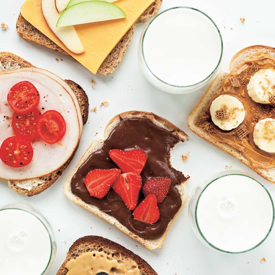 Breakfast Open-Faced Sandwiches