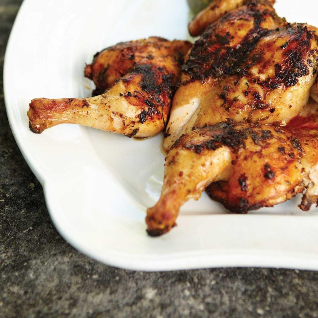Butterflied Chicken with Chimichurri Sauce