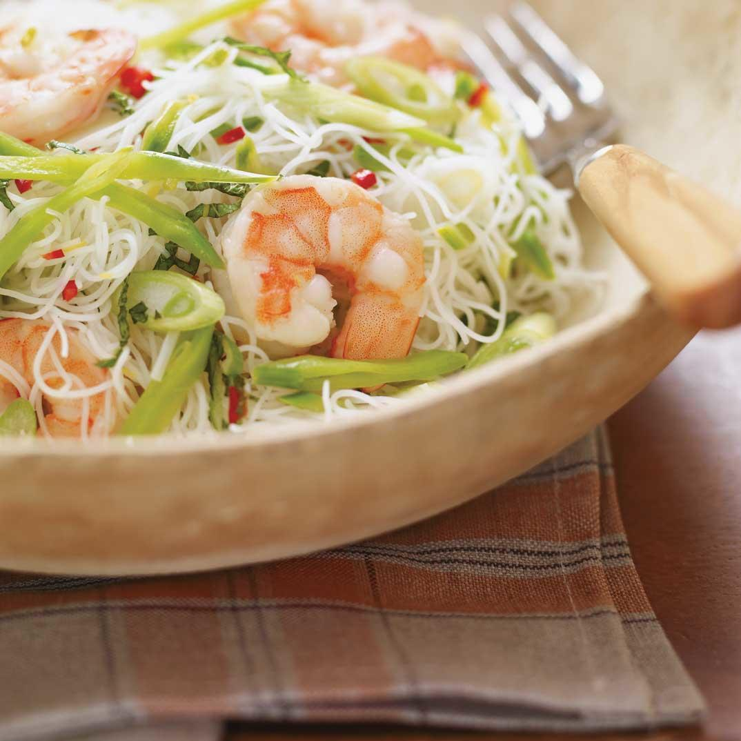 Cold noodles with Spicy Shrimp
