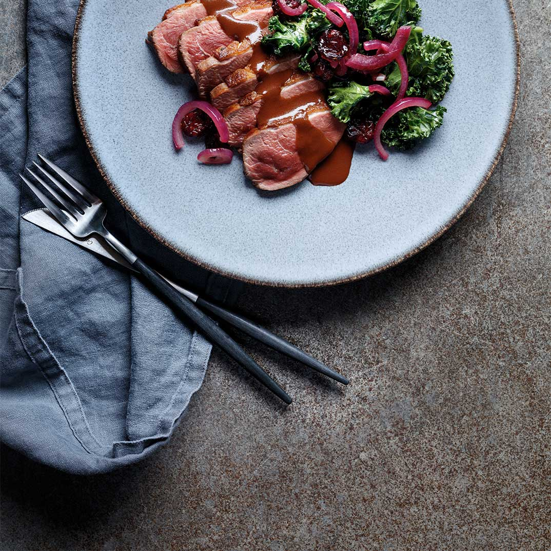 Duck with Chocolate and Red Wine Sauce
