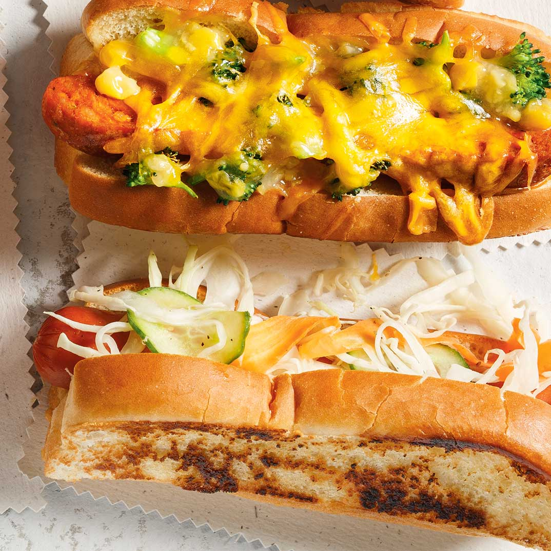 Hot Dogs with Broccoli and Cheese