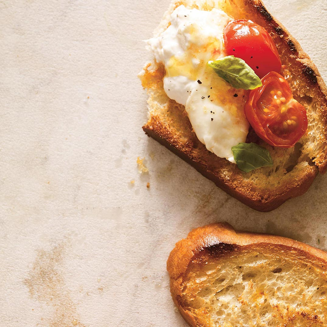 <i>Burrata</i> with Cherry Tomato Confit