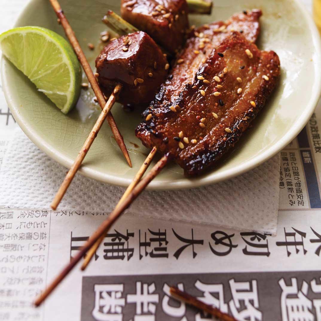 <i>Yakiton </i>(Japanese Pork Skewers)