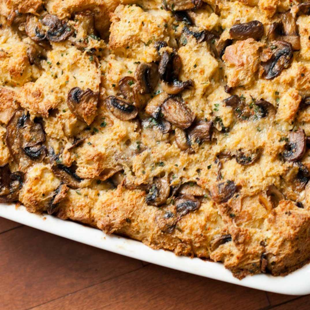 Joël Legendre's Cheese and Mushroom Bread Pudding
