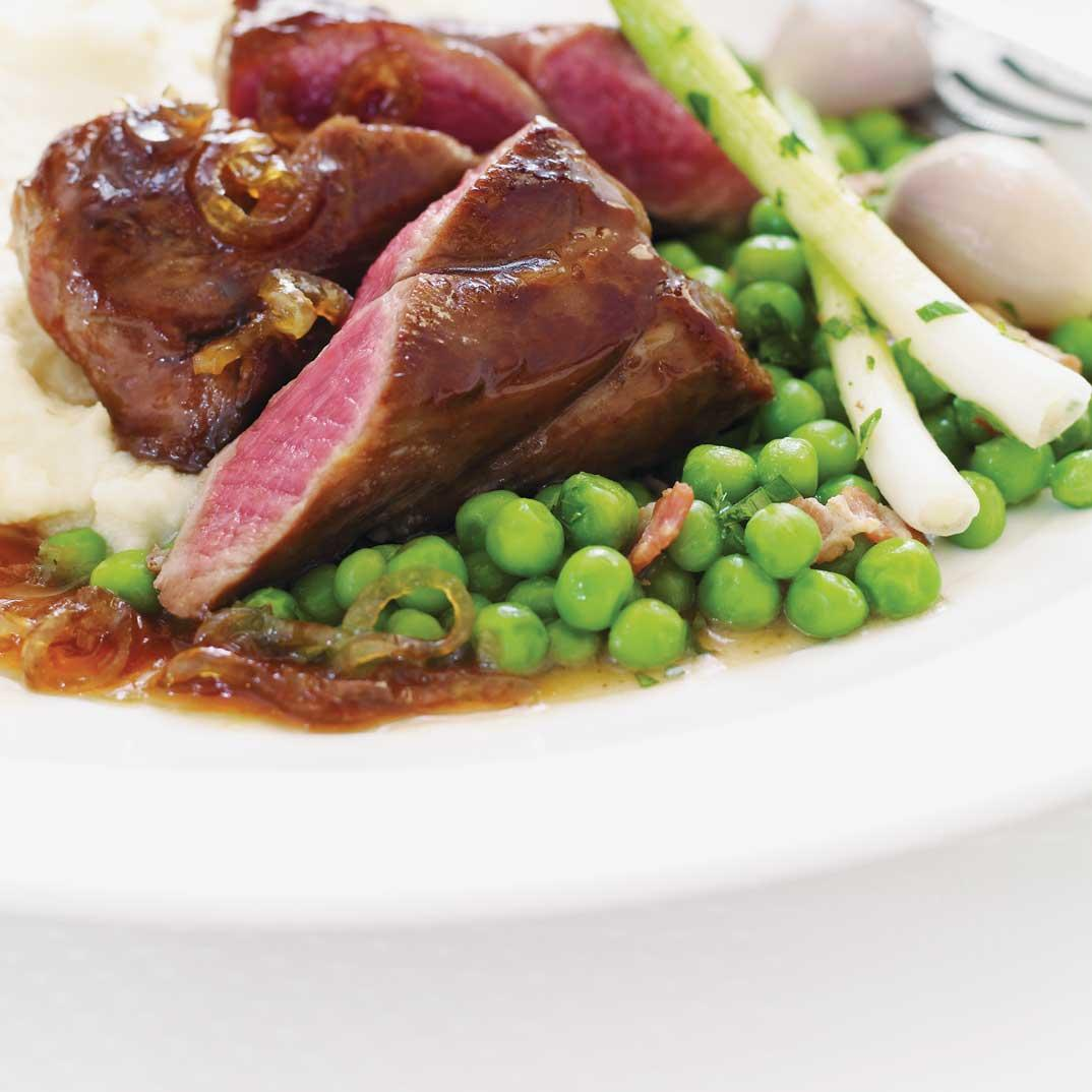 Lamb Tenderloin with Whiskey and Maple Syrup