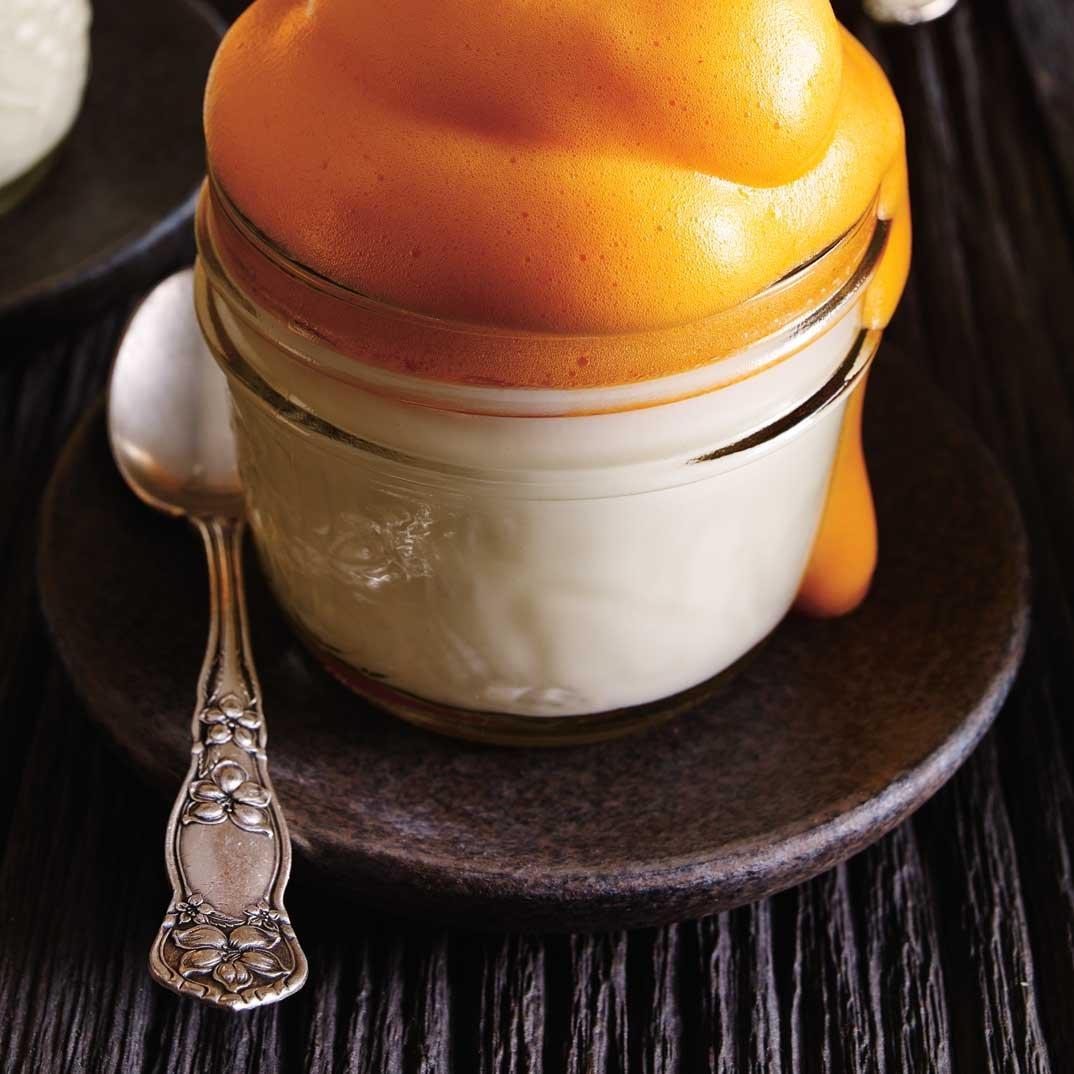 Lemon Panna Cotta with Orange Juice Mousse