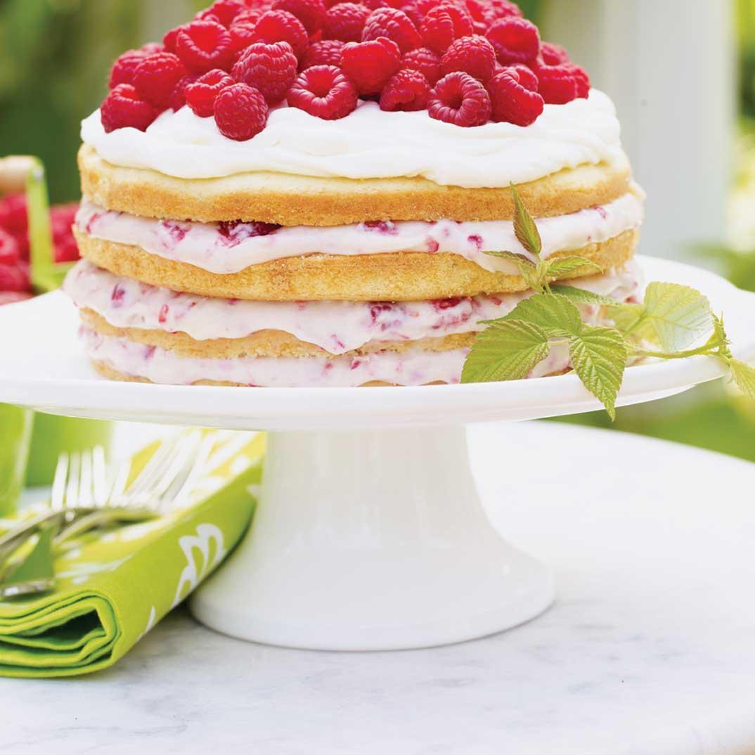 Raspberry and Cream Cake