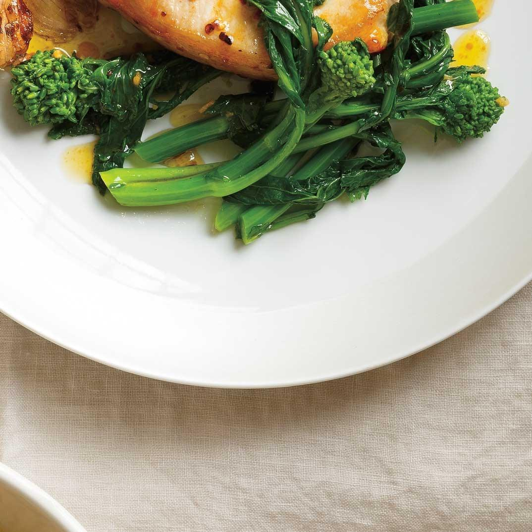Sautéed Rapini with Garlic