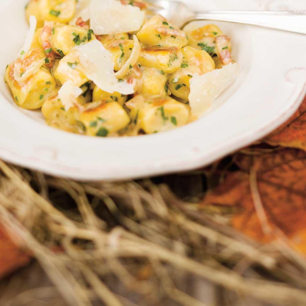 Squash Gnocchi with a Creamy Herb Sauce