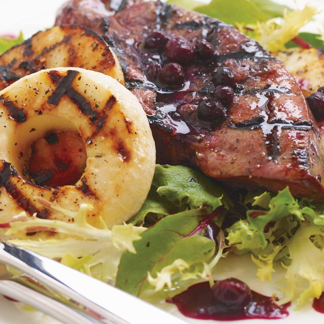 Warm Veal Liver and Blueberry Salad